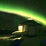fabulous light display over the yurt