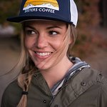 Sisters Coffee Company Trucker Hat in Navy.