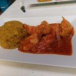 chicken and mofongo