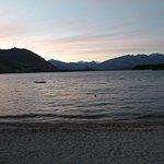 Sunset on Lake Wanaka from Downtown Wanaka