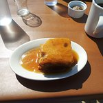 Sticky pudding to finish off, with coffee.