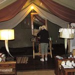 Our tent at Asanja Africa