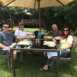lunch before an afternoon game drive