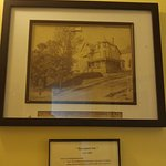 One of the many historical pictures around the Inn - this one is of the original building