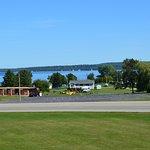 View from room--sailboats near Mackinac Island