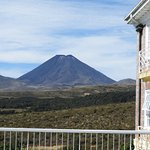 View of Mt Ngaruhoe from First Floor Viewing Deck.