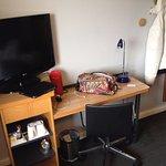 TV & desk - everything worked fine