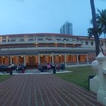 the Galle Face Hotel - view from the gardens