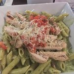 pesto penne with chicken