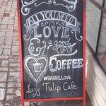 Lazy Tulip Cafe signage