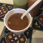 the customary soup. very tasty