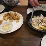 lapu lapu ( roher-Fisch-Salat, süßsauer ) rechts