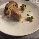 Foie gras de canard, artichaud, topinambour