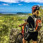 Views of the Coral Sea on our All-Mountain/Enduro Guided Tour
