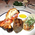 A combination of the fillet mignon with a lobster tail (comes with garlic and bone marrow).
