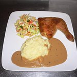 Oven Roasted Chicken with home made creamy mashed potatoes