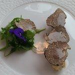 Croustillant de brie de Meaux à la truffe.