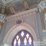 Ornate ceiling in Durbar Hall
