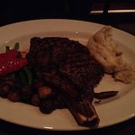 20oz Rib Steak (medium well) with mash potato