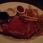 14oz Prime Rib (medium rare) with french fries