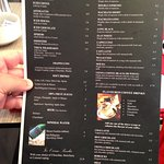 Page from menu