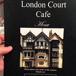 Menu cover from one of the cafes