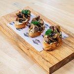 Snacks: Mushroom Bruschetta