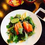 The amazing salmon sashimi