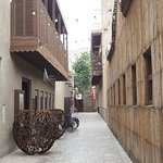 The alley leading to XVA Cafe.
