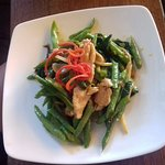 Owners favourite!!! Chicken stir fried w green beans, holy basil & ginger