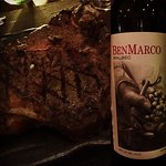 T-bone steak from US and Argentinean Malbec