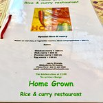 Photo of Home Grown Rice and Curry