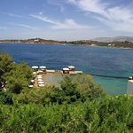 Panoramic view from the hotel's restaurant terrace...