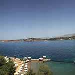 Panoramic view - pool, beach and beautiful sea