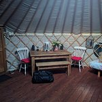 Table in Blackberry Yurt