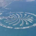 Palm Jumeirah. View from the airplane