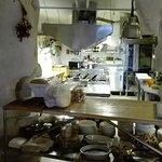 particolare della cucina a vista