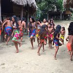 Indian Village performing a dance