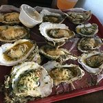 Up the Creek parmesan and butter oysters!
