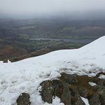 View over Coniston lake near the summit