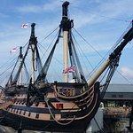 Half her masts missing but still a master of ships!