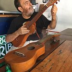 Wenceslao and his beautiful guitars. He is quite gifted a player.