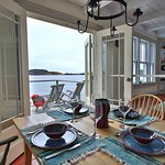 Admiral's Lookout Vacation Home Kitchen and Patio Ocean View