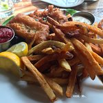 fish and chips - a little greasy and less crisp than I like