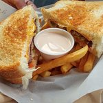 Shadow Fighter Sandwich with Fry Sauce and Fries