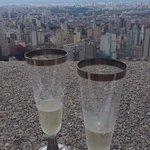 Vista com champanhe