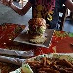 Bacon avo monster burger