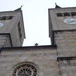 Blick zu den Kirchen - Türmen.