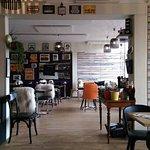 Hyggelig og uhøjtidelig cafe lige ved åen Kolding.