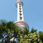 The museum is at the base of the Oriental Pearl Tower